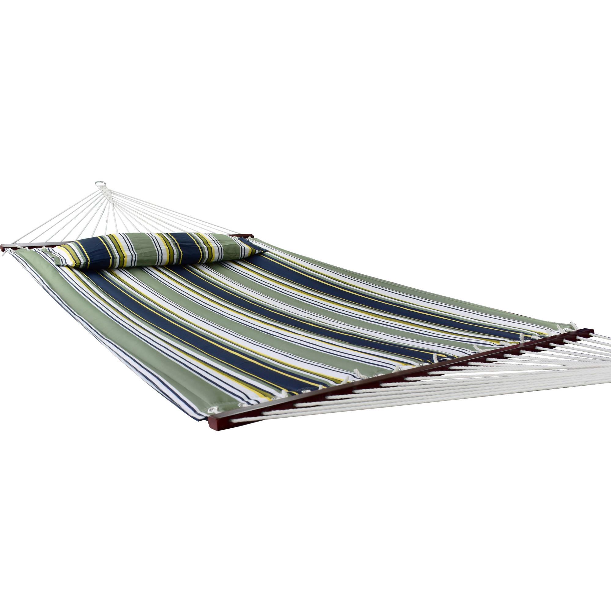 Sorbus Hammock with Spreader Bars and Detachable Pillow, Heavy Duty, 450-Pound Capacity