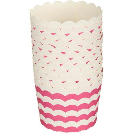 (4 Pack) Wiltonî Standard Wave Pink Baking Cups 12 ct Pack - Pink Baking Cups