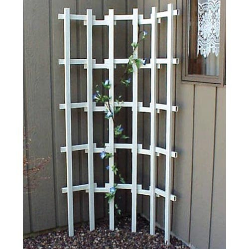 Vinyl Flex Trellis in White Finish