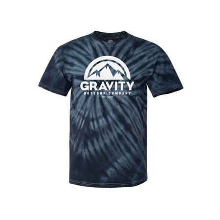 Gravity Outdoor Co. Mens Tie-Dye Large Logo T-Shirt