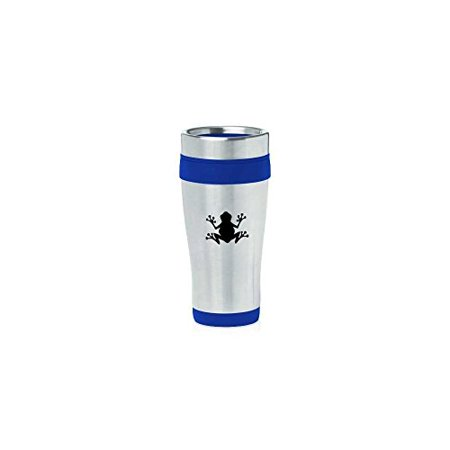 Blue 16oz Insulated Stainless Steel Travel Mug Z1859 Frog,MIP