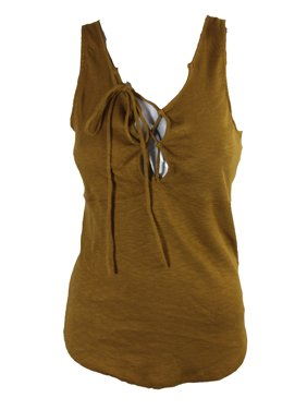 4c97c104dabee Product Image Free People Gold Lace-Up Sleeveless Tank Top L