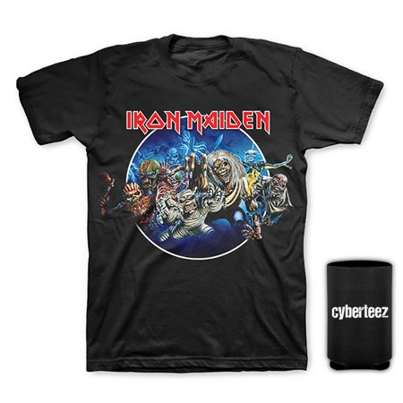 Iron Maiden T-Shirt Wasted Years Circle T-Shirt + Coolie (S) - Faire Maiden