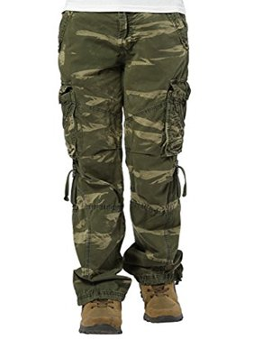 20b4ba844cb Product Image Women s Casual Cargo Pants Military Army Styles Cotton  Trousers CamoGreen L