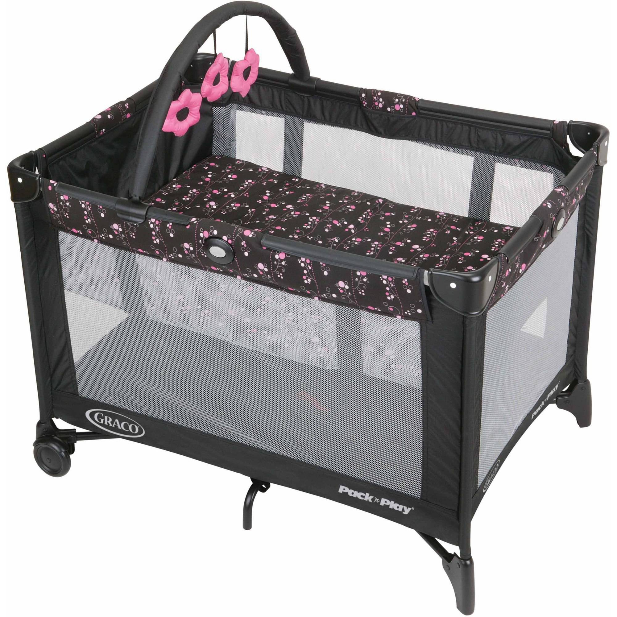 Graco Pack 'N Play with Automatic Folding Feet Playard, Priscilla
