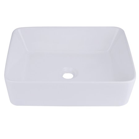 Rectangular Bathroom Vessel Sink Counter Top Wash Basin Ceramic Bowl