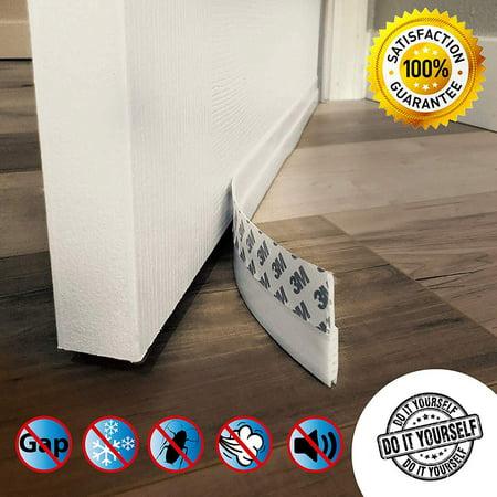Interior Design Draft Kit (Door Draft Stopper – High Performance Silicone Door Sweep w VHB Adhesive 3M Strip   Draft Blocker for Under Door Seal Gap Interior & Exterior Doors Weather Stripping Soundproof   Dra )