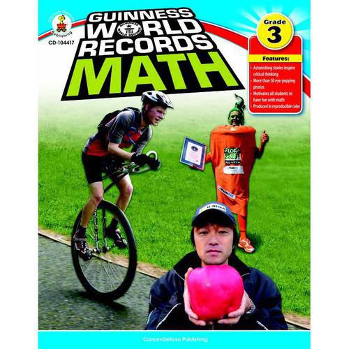 Carson Dellosa Guinness World Records Math, Multiple Grades