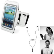 Earphones Sports Wireless Headset w Gym Workout Sports Running Armband J9A for Motorola DROID RAZR MAXX HD - Samsung Galaxy S5 Mini S4 Active (GT-i9295) S3 Prevail LTE Core Prime Express 3