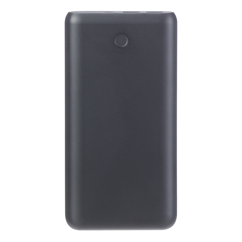onn. Dual-Port Portable Battery, 6x Charge, 20000 mAh - Black