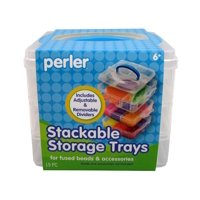 Perler Bead Storage Stackable Trays Square, Includes 3 Trays