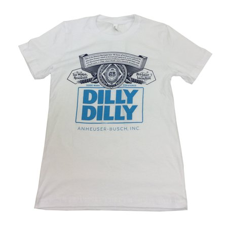 Brew City Unisex Bud Light Dilly Dilly Label Short Sleeve