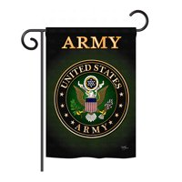 "Breeze Decor - Army Americana - Everyday Military Impressions Decorative Vertical Garden Flag 13"" x 18.5"" Printed In USA"
