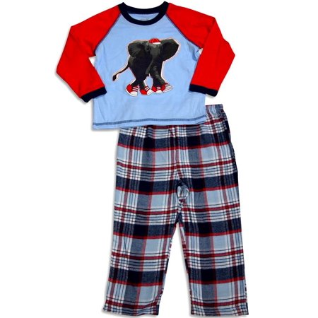 Little Me - Baby Boys and Toddler Boys Long Sleeve Elephant Pajamas - 30 Day Guarantee - FREE SHIPPING