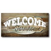 Welcome Gallery-Wrapped Canvas Wall Art, 12x24