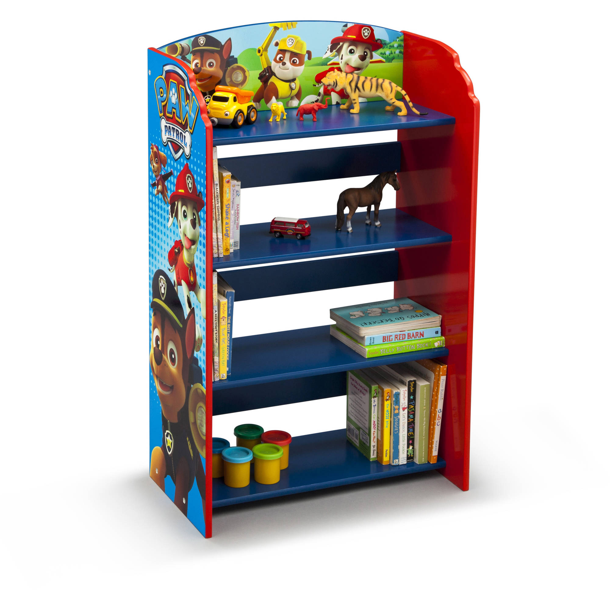 Paw Patrol Kids Toy Organizer Bin Children S Storage Box: Delta Children PAW Patrol Bookshelf Kids Storage Toy