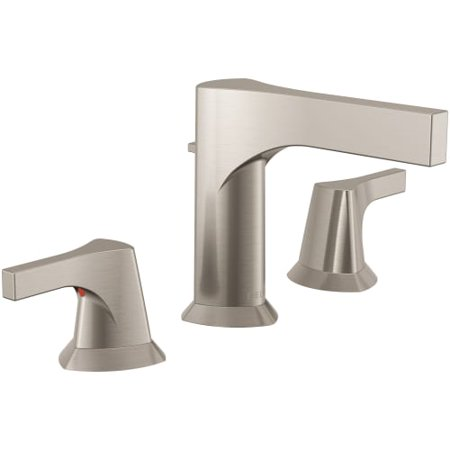 - Delta Zura Two Handle Widespread Bathroom Faucet, Stainless