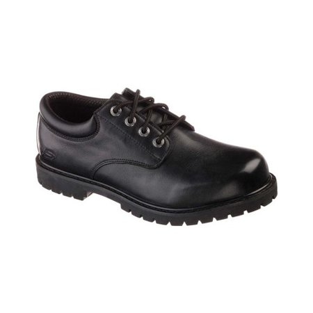 Skechers Work Mens Cottonwood Elks Lace Up Slip-Resistant Oxford Work Shoes
