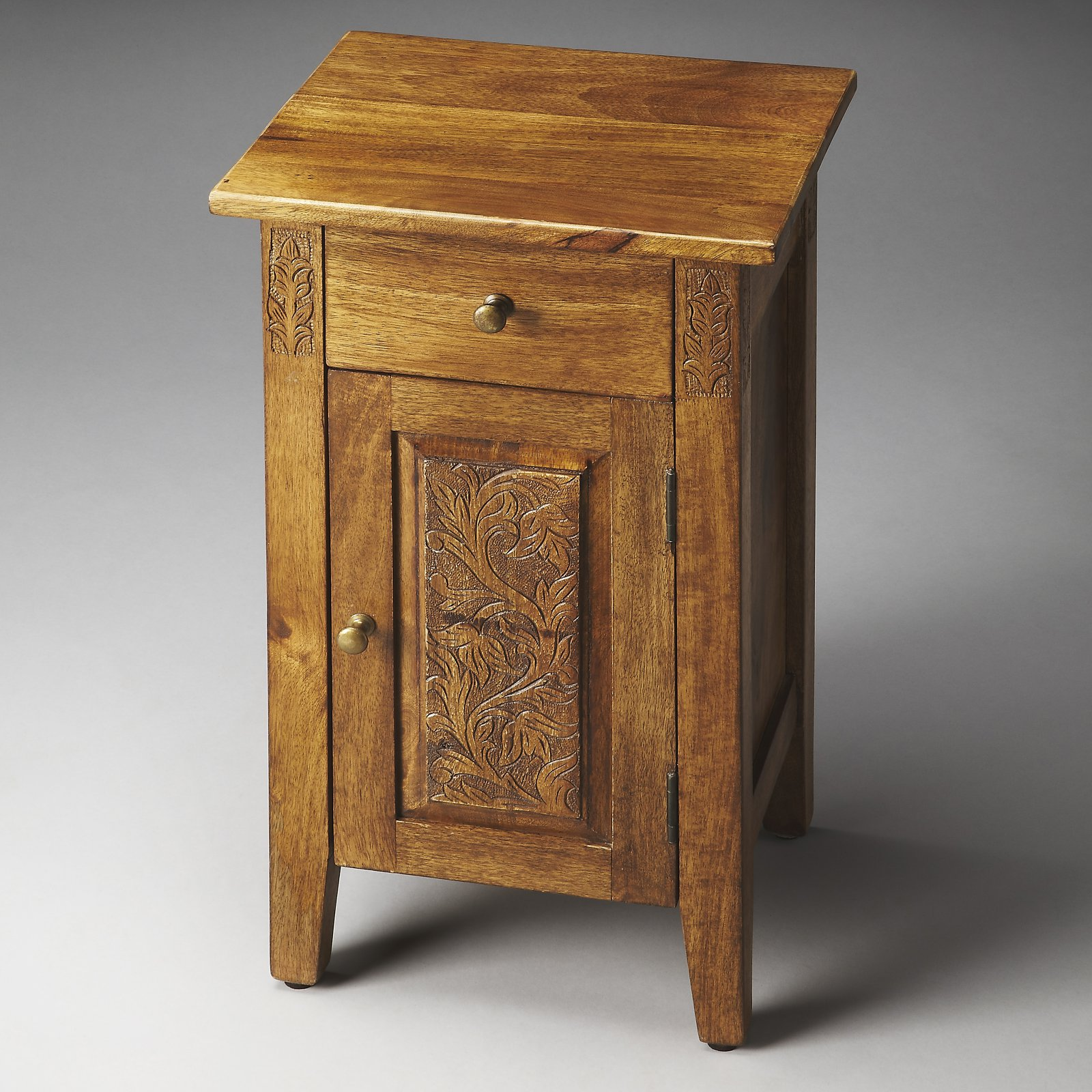 Butler Webster Hand Carved Chairside Chest