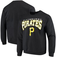 Pittsburgh Pirates Stitches Pullover Crew Sweatshirt - Black
