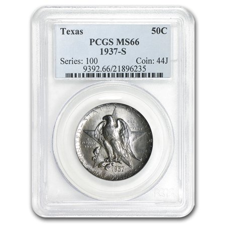 1937 S Texas Independence Centennial Half Dollar Ms 66 Pcgs