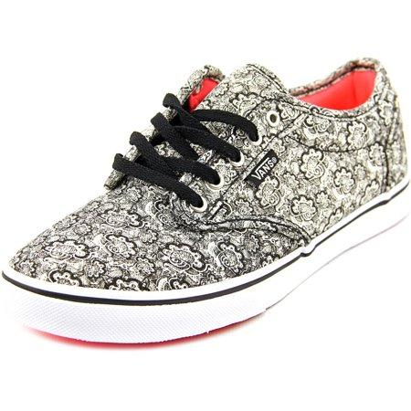 2706a23cc0b9 VANS - Vans Atwood Low Women Round Toe Canvas Black Skate Shoe ...