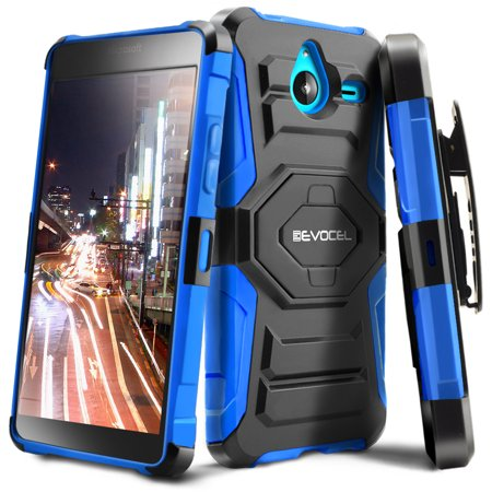 Nokia Lumia 640 Xl Case  Evocel  New Generation  Rugged Holster Dual Layer Case  Kickstand  Belt Swivel Clip  For Nokia Lumia 640 Xl   Blue