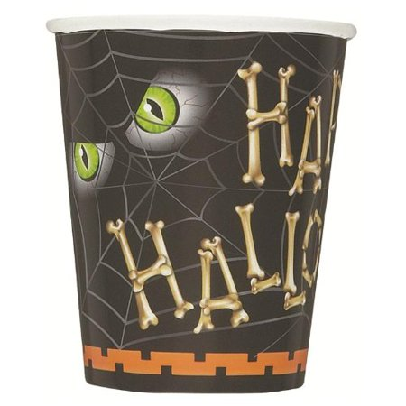 Unique Spooky Happy Halloween Bones Standard 9 Oz Paper Cups, 8 CT - Happy Halloween 9 Cats