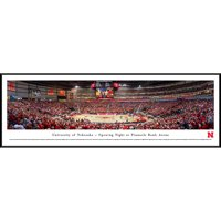 Nebraska Cornhuskers Basketball - Opening Night at Pinnacle Bank Arena - Blakeway Panoramas NCAA College Print with Standard Frame