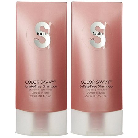 TIGI S Factor Color Savvy Shampoo - 8.45 oz - 2 Pack