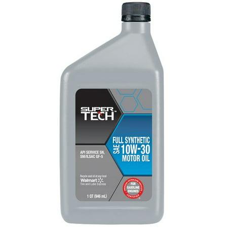 Supertech Full Synthetic 10w30 Motor Oil 1 Quart
