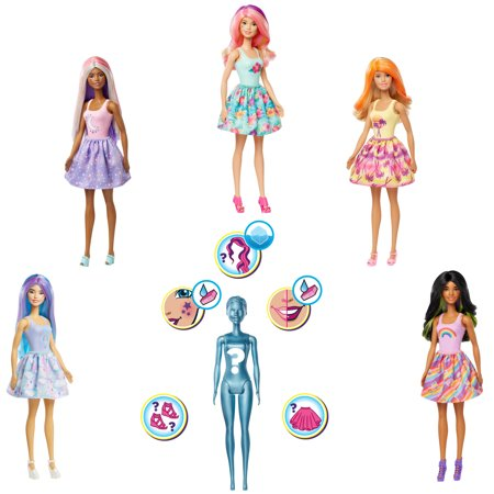Barbie Color Reveal Doll With 7 Surprises (Styles May Vary)