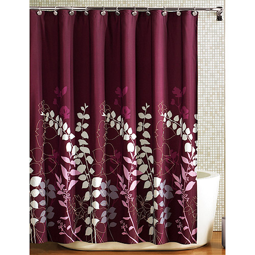 Mainstays Ashdown Fabric Shower Curtain