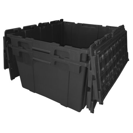 Heavy Duty Storage Boxes (Storage Tote - 2 Pack Black)
