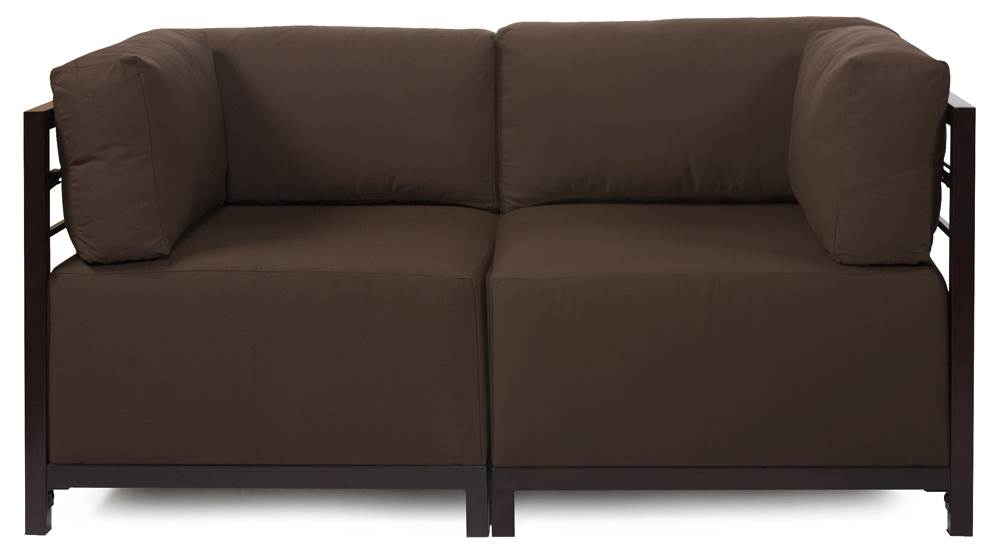 2-Pc Sectional in Chocolate by Howard Elliott Collection