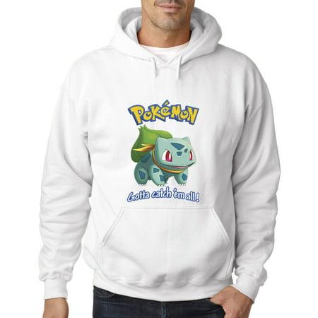 563 - Hoodie Pokemon Go Gotta Catch 'Em All Bulbasaur Sweatshirt](Pokemon Hoody)