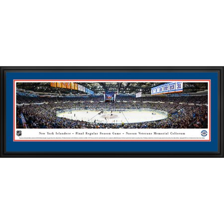 New York Islanders Final Game at Nassau Coliseum Blakeway Panoramas NHL Print with Deluxe Frame and Double Mat by
