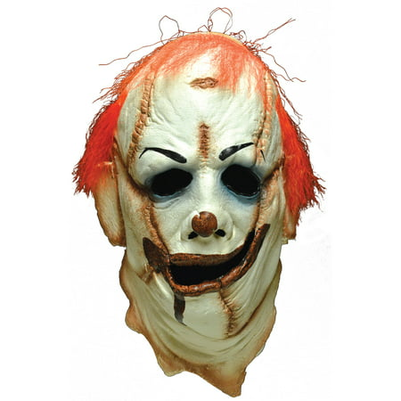 Long Halloween Two Face (Clown Skinner Face Mask Adult Halloween)