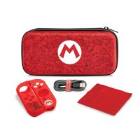 Nintendo Switch Super Mario Bros Mario Remix Starter Kit with Travel Case, Power Cable & Cleaning Cloth by PDP, 500-120