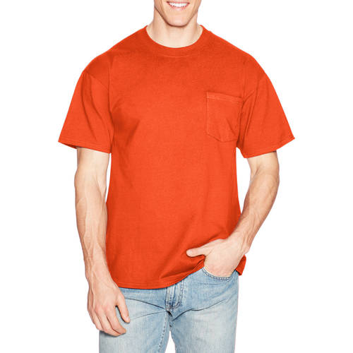 Hanes Mens Short-Sleeve Beefy T-Shirt with Pocket