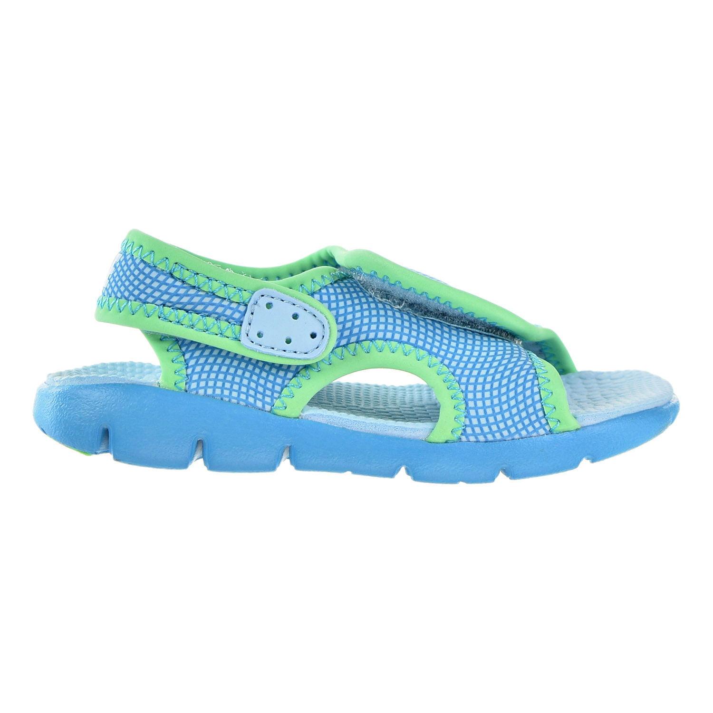 Nike Sunray Adjust 4 - Girls Toddler - Still Blue/Chlorine Blue/Electro Green