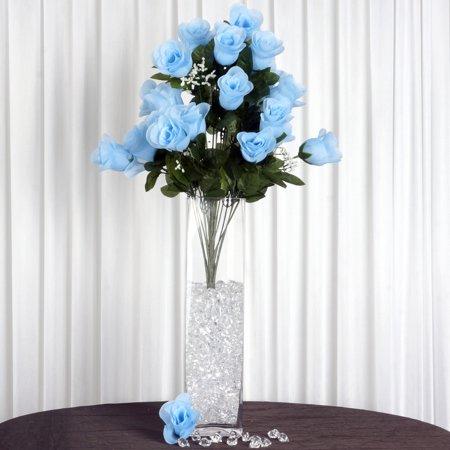 Efavormart 96 Extra Large Artificial Roses Buds Bushes for DIY Wedding Bouquets Centerpieces Arrangements Party Home Decorations