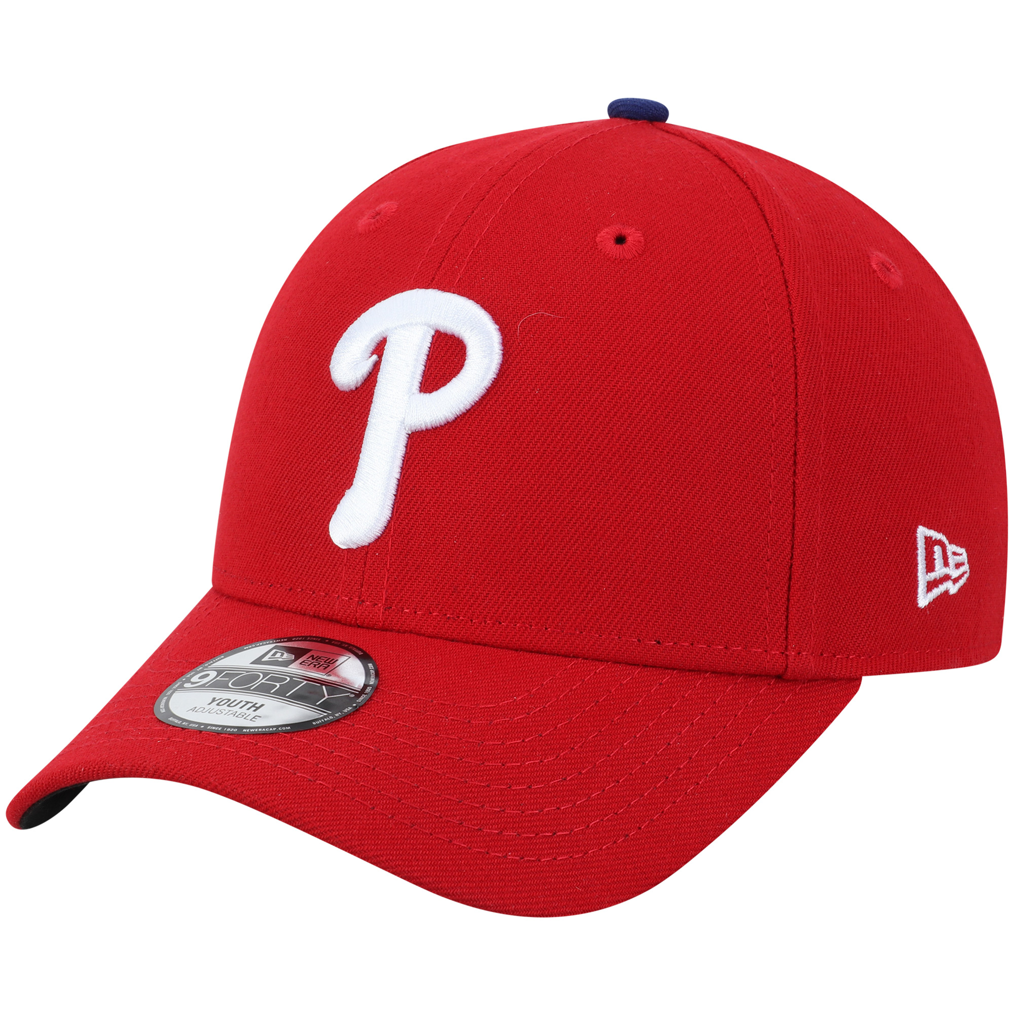 Philadelphia Phillies New Era Youth The League 9FORTY Adjustable Hat - Red - No Size