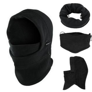 Tactical Thermal Balaclava Ski Mask Full Face Winter Hat Cap Cycling Hood Unisex - Black