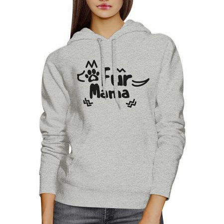 365 Printing Fur Mama Grey Unisex Round Neck Top Cute Graphic Design Hoodie - Cute Shirt Designs
