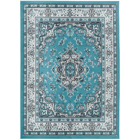 Antep Rugs Kashan King Collection Himalayas Oriental Polypropylene Indoor Area Rug (Blue/Cream 20