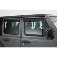 GT Styling G49-88644X 4 Piece Front Rain Guard - Carbon Fiber