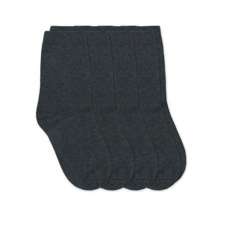 Jefferies Socks Boys Socks, 4 Pairs School Uniform Cotton Premium Crew Socks (Little Boys & Big Boys)