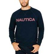 Nautica Men's Fleece Long Sleeve Crew Neck Sweatshirt In Navy, M
