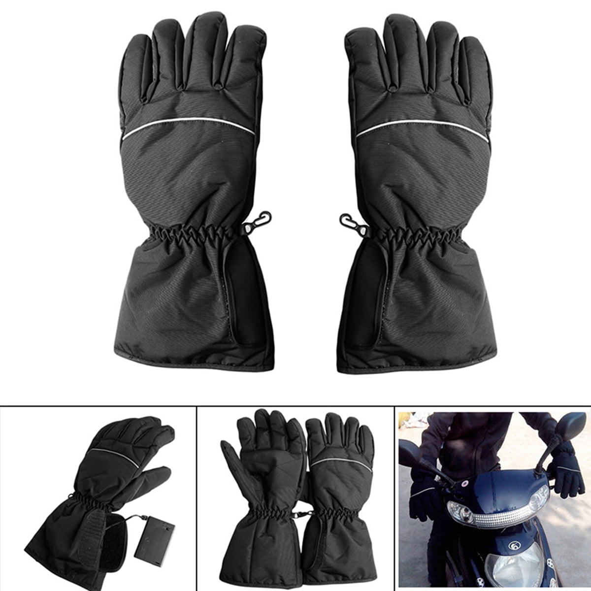 Winter Warm Battery Powered Electric Heated Gloves Waterproof Motorcycle Hunting
